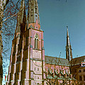 Uppsala Cathedral Spires  by Bob Phillips