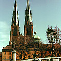 Uppsala Cathedral Steeples by Bob Phillips