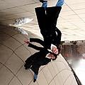 Upside Down At The Bean by Rita Mueller
