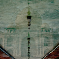 Upside-down Reflection Of Taj Mahal by Nick Dale