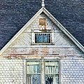 Upstairs Windows In Old House by Jill Battaglia