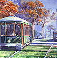 Streetcars Uptown New Orleans by CB Hume