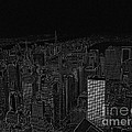 Uptown Nyc White On Black by Meandering Photography