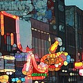 Urban Abstract Nashville Neon by Dan Sproul