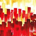 Urban Abstract Red City Lights by Irina Sztukowski