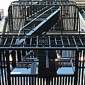 Urban Fabric - Fire Escape Stairs - 5d20592 by Wingsdomain Art and Photography