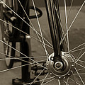 Urban Spokes In Sepia by Steven Milner