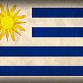 Uruguay Flag Vintage Distressed Finish by Design Turnpike