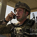 U.s. Air Force Soldier Communicates by Stocktrek Images