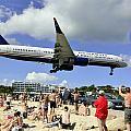 Us Airways Landings In St Maarten by Matt Swinden