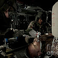 U.s. Army Medics Simulating Ventilation by Terry Moore