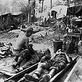 U.s. Army Medics Treat Wounded Soldiers by Everett