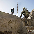U.s. Army Soldier Climbs Stairs by Stocktrek Images