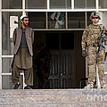 U.s. Army Soldier Stands Guard In Farah by Stocktrek Images