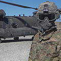 U.s. Army Soldier Stands Ready To Load by Stocktrek Images