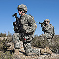 U.s. Army Soldiers Scan The Terrain by Stocktrek Images