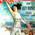 Fight Or Buy Bonds by US Army WW I Recruiting Poster