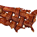 Us Bacon Weave Map by Andee Design