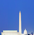 Us Capitol, Washington Monument by Panoramic Images