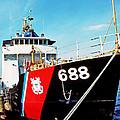 Us Coast Guard Ship by Thomas R Fletcher