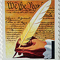 Us Constitution Stamp by Tikvah's Hope