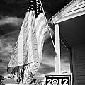 Us Flag Flying And Barack Obama 2012 Us Presidential Election Poster Florida Usa by Joe Fox
