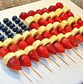 American Flag Fruit Kabobs by Brian Tada