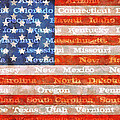 Us Flag With States by Michelle Calkins