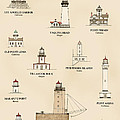 Lighthouses Of The West Coast by Jerry McElroy