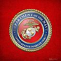 U. S. Marine Corps - U S M C Seal  by Serge Averbukh