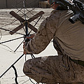 U.s. Marine Repositions A Satellite by Stocktrek Images