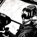 U.s. Marines Helicopter Pilot by Katy Hawk