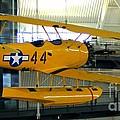 U.s. Navy Yellow Peril Float Biplane by Patti Whitten