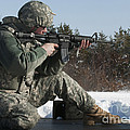 U.s. Soldier Fires His M4a3 Carbine by Stocktrek Images