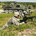 U.s. Soldiers Move Into Firing by Stocktrek Images