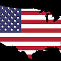 Usa And Flag by Pete Trenholm