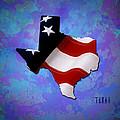 Usa Flagtexas State Digital Artwork by Georgeta Blanaru