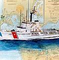 Uscg Alert Coast Guard Chart Map Art Peek by Cathy Peek