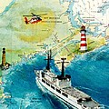Uscg Chase Helicopter Chart Map Art Peek by Cathy Peek