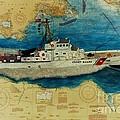 Uscg Cuttyhunk Nautical Chart Art Peek by Cathy Peek