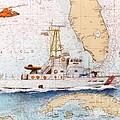 Uscg Sapelo Helicopter Fl Nautical Chart Map Art Peek by Cathy Peek
