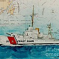 Uscgc Bibb Nautical Chart Cathy Peek by Cathy Peek