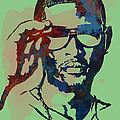 Usher Raymond Iv  - Stylised Pop Art Sketch Poster by Kim Wang