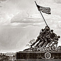 Usmc War Memorial And National Mall by Karl Greeson