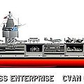 Uss Enterprise Cvn 65 1971-73 by George Bieda