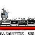 Uss Enterprise Cvn 65 1975- 1981 by George Bieda