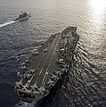 Uss George Washington And Uss Mobile by Stocktrek Images
