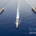 Uss George Washington, Uss Mobile Bay by Stocktrek Images