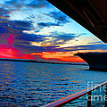 Uss Midway Sunset by RJ Aguilar