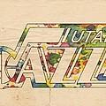 Utah Jazz Retro Poster by Florian Rodarte